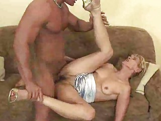 grownup elderly gives a dick sucking and is