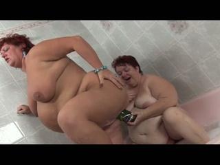 super bbw sex toy act  inside dike fat hitters
