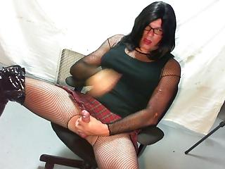cayce jean crossdresser masturbation to climax...