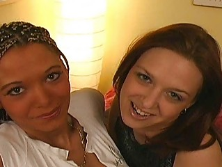 lesbain with braids and amateur lady having