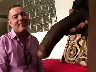 huge libido gay stud takes a finger and fellatio