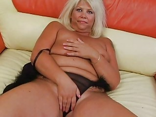 tanned bleached with large bosom sticks sex toy
