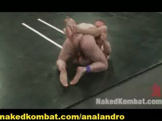 two all english studs with large penises wrestle