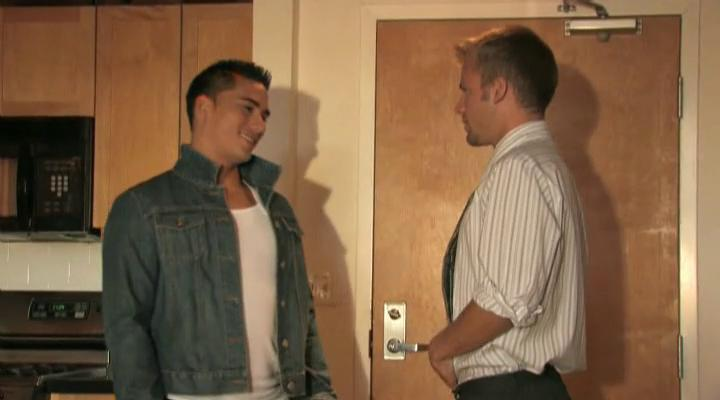 two handsome gay studs find every different
