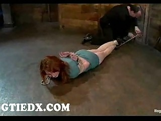 hogtied with ropes kendra joseph toyed on the
