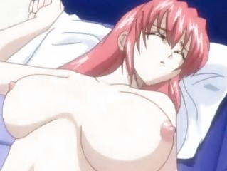 Hitomi bangs a sleeping redhead