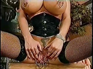 huge vagina. extreme piercing. fingering