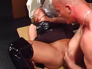 n251  german albino inside latexboots