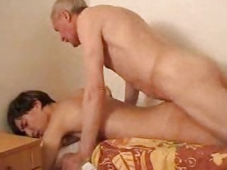 slender fresh twink takes fucked by his gay daddy