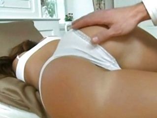 amateur tiny satin bloom exposes how she worships