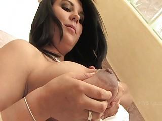 julie delightful desperate brunette pregnant lady