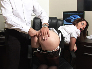 sloping ahole assistant spanked