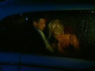 lara crawford inside the car
