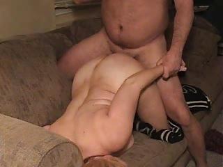 housewife on armchair