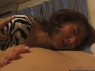 naughty japanese bitch blows penis