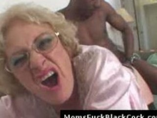 slutty granny bleached obtains giant dark libido