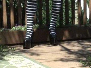 kasia inside panties outdoors.