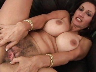 desperate brunette mature obtains her bushy vag