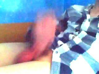 guy cums on webcam