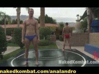 public gay porn wrestling into the garden